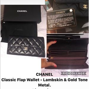 Chanel  Wallet with a bonus diamond heart necklace